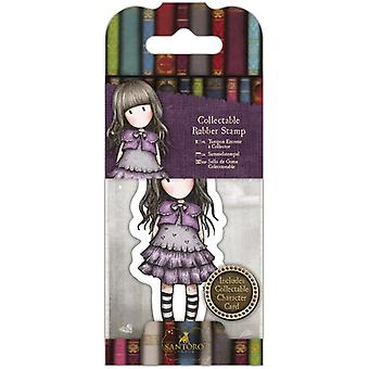Gorjuss Collectable Mini Rubber Stamp No. 32 Little Violet