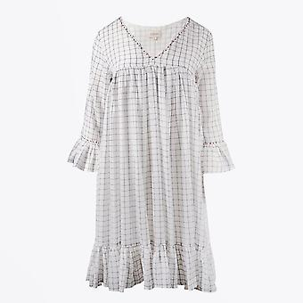 Dream - Checked Smock Dress - Wit