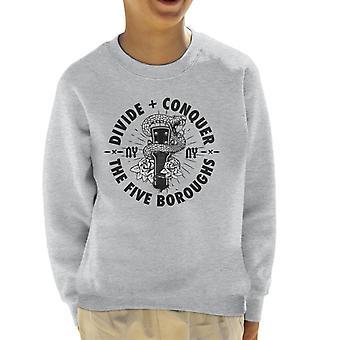 Teilen & erobern NY Gitarre Schlange Kid's Sweatshirt