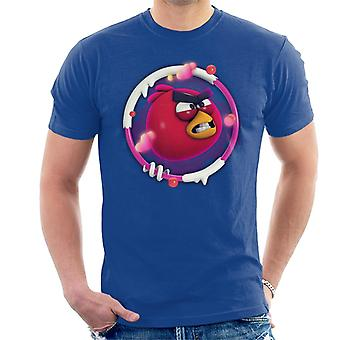 Angry Birds Red 3D Badge Men's T-Shirt