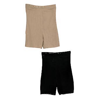 Simply Contour Shaper 2Pk Butt Lifter w/ Elastic Waistband Black/Beige