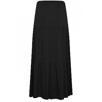 b.young Black Jersey Maxi Skirt