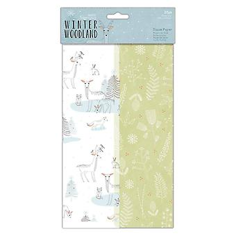 Papermania Winter Woodland Tissue Paper
