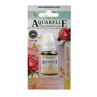 Stamperia Aquarelle Watercolor Yellow Quartz (18ml) (KAWCL04)