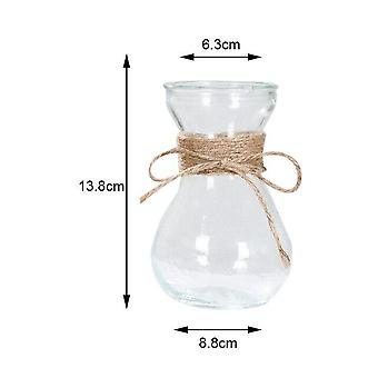 Nordic Style Rope Glass Vase - Living Room Table Decoration Transparent Water Hydroponics Flower Rope Dry Flower Vase Diy Valentine's Day Decor