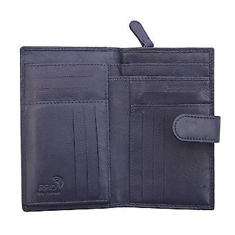 Primehide Large RFID Blocking Leather Purse Womens Wallet Ladies 22808