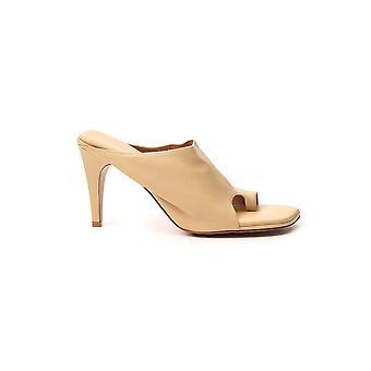 Bottega Veneta 618760vbso09483 Dames's Beige Leather Slippers