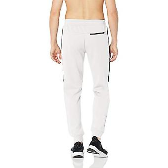 Peak Velocity Men's Stretch Spacer Fleece Athletic-Fit Jogger Sweatpant, Whit...