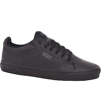Vans Boys Молодежь Дети Селдан школа случайных тренеров кроссовки обувь - черный