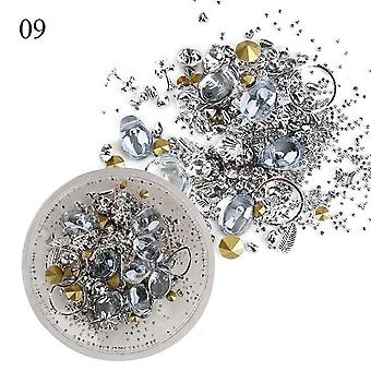Mixed 3d Rhinestones Crystal Gems, Ab Shiny Stones Charm Glass