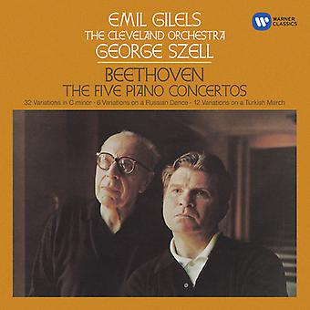Beethoven / Guilels / Szell / Cleveland - concertos pour Piano 1 à 5 [CD] USA import