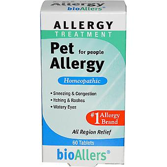 NatraBio, BioAllers, Allergy Treatment, Pet Allergy for People, 60 Tablets