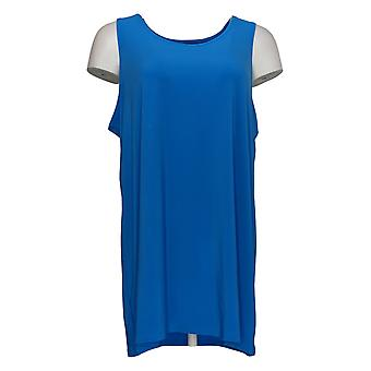 Women with Control Women's Petite Top Como Jersey Tank Blue A366018