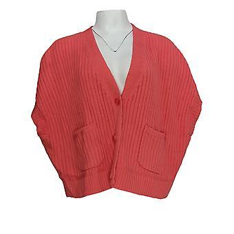 Isaac Mizrahi Live! Frauen's Pullover Button vorne Cardigan rosa A378049