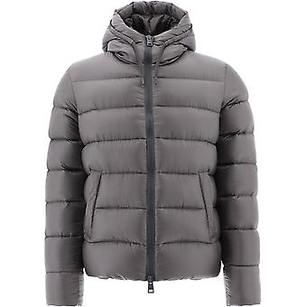 Herno Pi0646u120209478 Heren's Grijs Nylon Down Jacket