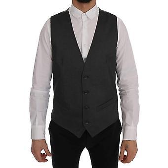 Dolce & Gabbana Gray Staff Cotton Rayon Vest SIG60333-2