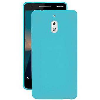 Soft Thin Mobile Case for Nokia 2.1 Lightweight Rubber Shockproof Turquoise