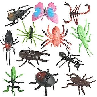 12pcs Realistic Insects Figures Lifelike Animal Figurines Toys Educational Learning Toys & Birthday Gift  (multicolor)