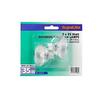 SupaLite MR11 Halogen Reflector Bulbs (Pack Of 2)