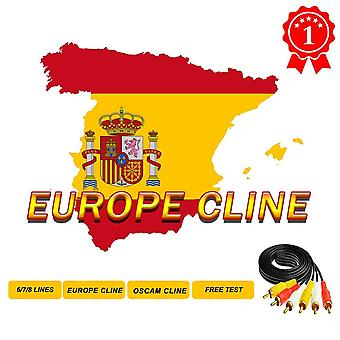 Hd Dvb-s2 6-lines Europe Cccam Cline For 1-year Europe-support Satellite Tv
