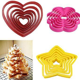 Multi-Stil-Kuchen Cookie Keks Cutter - Stempel Form für Lebensmittel-Grade Backen verwendet