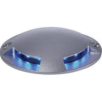 LED 12 Light 4-weg walkover inbouw licht aluminium, blauw IP67