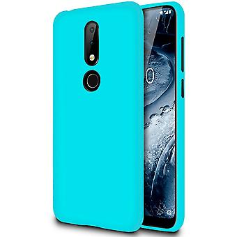 Nokia 6.1 Plus (Nokia X6) Rubber Phone Solid Color Shockproof Thin Mobile Turquoise