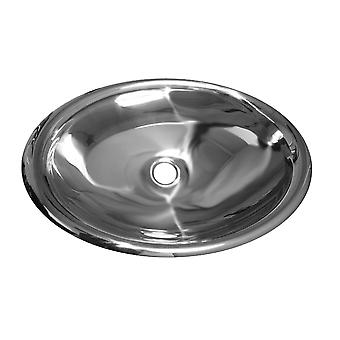 Noah'S Collection Mirrored Stainless Steel Drop-In/Undermount Bathroom Basin - Mirrored Stainless Steel