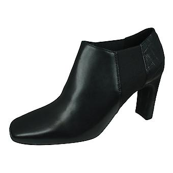 Geox D Vivyanne H naisten nahka nilkan kengät / saappaat - musta