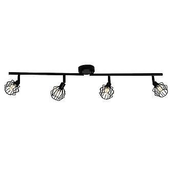 BRILLIANT Lampe Noris LED Spot Tube 4flg sort   4x LED-T14, G9, 3W LED pære medfølger ( 350lm, 3000K)   Skala
