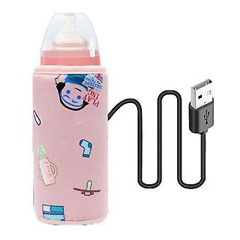 Bärbar USB-flaska för mjölk och vattenvärmare
