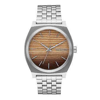 Nixon Time Teller puuta / hopea (A0452457)