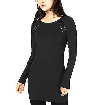 BCX | Lace-up Tunic Sweater
