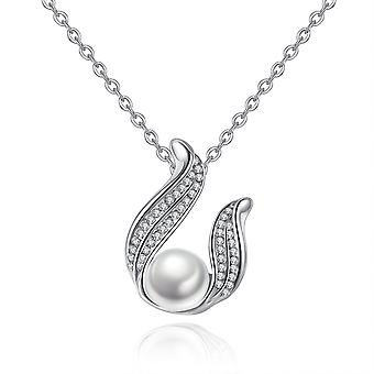 Full Diamond Wings Pearl Necklace