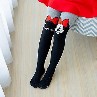 Disney-sukkahousut - Söpö Mikki Hiiri Sarjakuva sukkahousut, Puuvilla sukkahousut sukkia