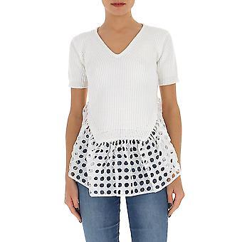 N°21 A01175231101 Women's White Cotton T-shirt