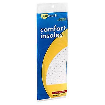 Sunmark Comfort Insoles Mens, 1 each