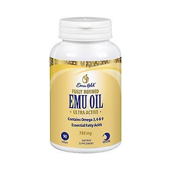 Emu Gold Emu Oil Extra Strength, 750 mg, 90 Softgels