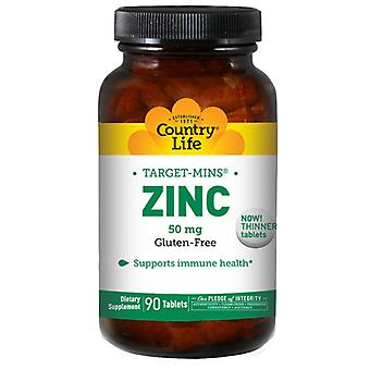 Country Life Zink Target-Mins, 50 mg, 90 Tabletten