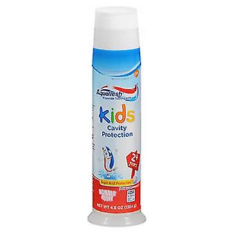 Abreva Aquafresh Triple Protection Fluriode Toothpaste For Kids, Bubble Mint 4.6 oz