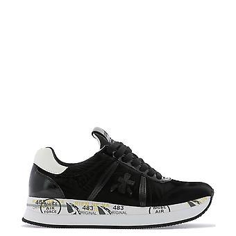 Premiata Conny4086 Women's Black Nylon Sneakers