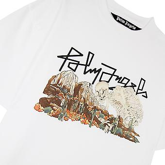 Palm Angels Desert Skull T-Shirt White