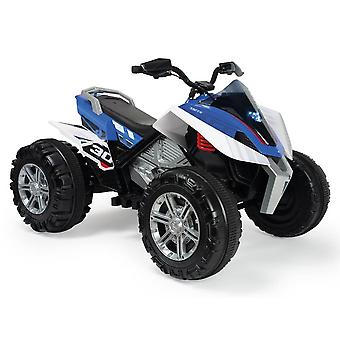 Injusa quad rage bike 12v blue with front lights for ages 3+