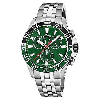 Lotus Men's Stainless Steel Bracelet | Green Dial | Green/Black Bezel L18765/2 Watch