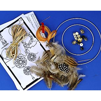 Natural Feather Indian Dream Catcher Making Craft Kit - Makes 2