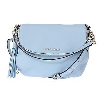 Michael Kors Blue BEDFORD Pebbled Leather Shoulder Bag