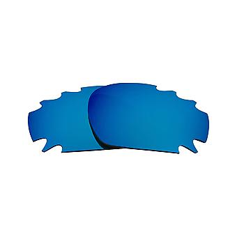 Replacement Lenses for Oakley Vented Racing Jacket Sunglasses Anti-Scratch Blue