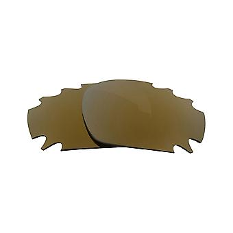 Replacement Lenses for Oakley Vented Racing Jacket Sunglasses Anti-Scratch Gold