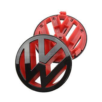 لمعان الأسود والأحمر فولكس فاجن جولف MK5 الجبهة شواء غطاء محرك السيارة شارة شارة الشواية