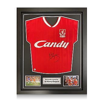 Kenny Dalglish a signé Liverpool 1989 Shirt. Cadre standard